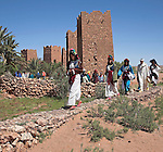 Extras from a film shoot, Kasbah, Ait Benhaddou, Morocco