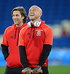 David Cotterill of Wales before the start of the FIFA World Cup Qualifying match at the Cardiff City Stadium, Cardiff. Picture date: November 12th, 2016. Pic Robin Parker/Sportimage