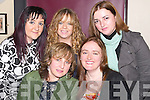 HOME: Lisa Collins of Spa Road, Tralee, who came home from London to celebrate her 36th birthday with friends at The Greyhound Bar, Tralee, on Friday night. Front l-r: Lisa Collins and Liz Gallagher. Back l-r: Joanne Barry, Michelle Jones and Mags Prendiville..