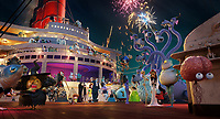 Drac Pack and family aboard a cruise ship in Hotel Transylvania 3: Summer Vacation (2018) <br /> *Filmstill - Editorial Use Only*<br /> CAP/RFS<br /> Image supplied by Capital Pictures