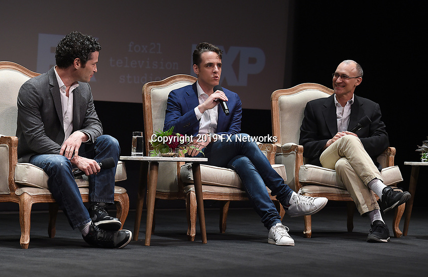 "LOS ANGELES - MAY 30: Executive Producers Tommy Kail, Steven Levenson, and Joel Fields attend the FYC Event for Fox 21 TV Studios & FX's ""Fosse/Verdon"" at the Samuel Goldwyn Theater on May 30, 2019 in Los Angeles, California. (Photo by Frank Micelotta/FX/PictureGroup)"