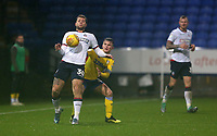 Bolton Wanderers' Yanic Wildschut shields the ball from Leeds United's Jamie Shackleton<br /> <br /> Photographer Stephen White/CameraSport<br /> <br /> The EFL Sky Bet Championship - Bolton Wanderers v Leeds United - Saturday 15th December 2018 - University of Bolton Stadium - Bolton<br /> <br /> World Copyright &copy; 2018 CameraSport. All rights reserved. 43 Linden Ave. Countesthorpe. Leicester. England. LE8 5PG - Tel: +44 (0) 116 277 4147 - admin@camerasport.com - www.camerasport.com