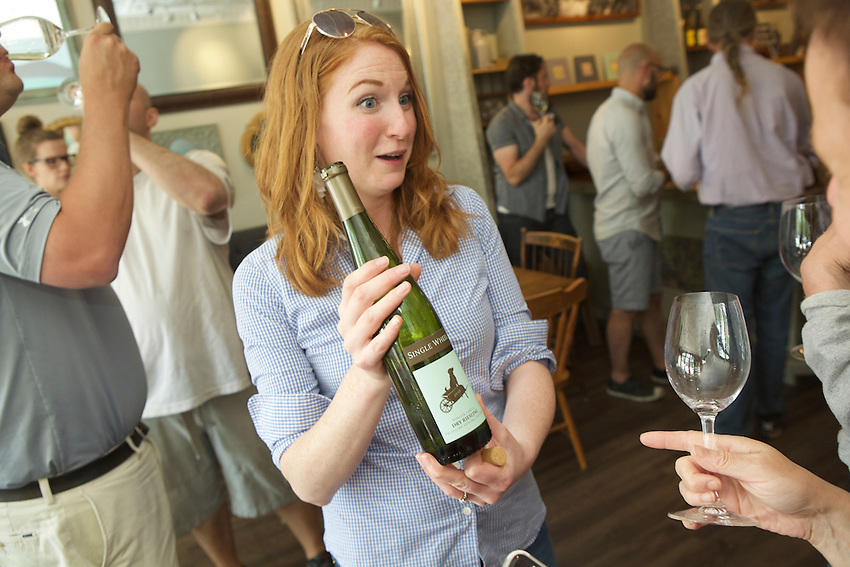 Watkins Glen, NY - June 21, 2016: The New York Wine and Grape Foundation bring New York City sommeliers and wine buyers to the Finger Lakes region as part of its NY Drinks NY program.<br /> <br /> CREDIT: Clay Williams.<br /> <br /> &copy; Clay Williams / claywilliamsphoto.com