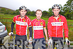 MOUNTAIN CLIMB: Member's of Tralee cycling club taking part in the National Hill Climbing Championship on Sunday l-r:John Kelly, Mikey Moriarty and Sean Cooke.