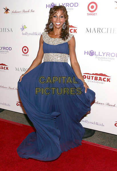 HOLLY ROBINSON PEETE.11th Annual DesignCare event benefiting the HollyRod Foundation held at a Private Residence, Beverly Hills, CA, USA..July 25th, 2009.full length blue jewel encrusted embellished silver dress .CAP/ADM/TL.©Tony Lowe/AdMedia/Capital Pictures.
