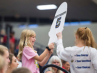 NWA Democrat-Gazette/BEN GOFF @NWABENGOFF<br /> Bentonville West vs Rogers Heritage volleyball Thursday, Sept. 13, 2018, at War Eagle Arena in Rogers.