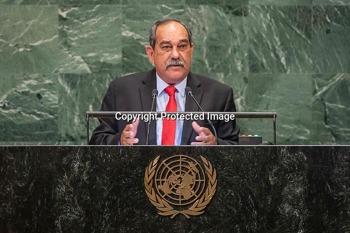 LOS general debate – 27 September<br /> <br /> PM<br /> <br /> President of State of Micronsia