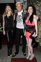 STUDIO CITY, CA - JUNE 23: KUBA Ka, Christina Fulton and Vikki Lizzi attend Polish Popstar KUBA Ka's concert at La Maison in Studio City on June 23, 2013 in Studio City, California. (Photo by Celebrity Monitor)