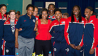 2012 Olympic Games Mrs. Michelle Obama greets Team USA at breakfast_gallery