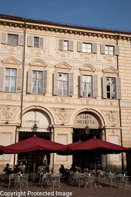 Mokita Cafe in St Carlo Square in Turin - Torino, Italy