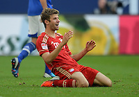 FUSSBALL   1. BUNDESLIGA  SAISON 2012/2013   4. Spieltag FC Schalke 04 - FC Bayern Muenchen      22.09.2012 Thomas Mueller (FC Bayern Muenchen)