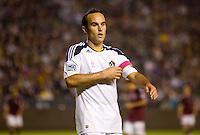Landon Donovan of the LA Galaxy adjusts his captains arm band. The Colorado Rapids defeated the LA Galaxy 3-1 at Home Depot Center stadium in Carson, California on Saturday October 16, 2010.