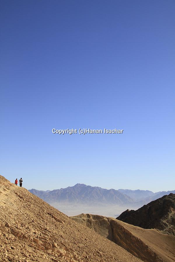 Israel, Eilat mountains, hiking on Mount Yehoram