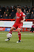 Reece Grego-Cox of Crawley Town during Crawley Town vs Fleetwood Town, Emirates FA Cup Football at Broadfield Stadium on 1st December 2019