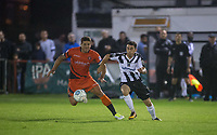 Dave Tarpey of Maidenhead United & Adam El-Abd of Wycombe Wanderers during the Pre Season Friendly match between Maidenhead United and Wycombe Wanderers at York Road, Maidenhead, England on 28 July 2017. Photo by Andy Rowland.