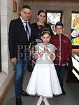 Anastasia Palombo from Donacarney school who recieved first holy communion in the Star of the Sea church Mornington with her family. Photo:Colin Bell/pressphotos.ie
