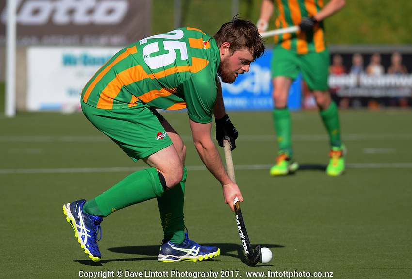 Action from the National Hockey League men's match between Central and Canterbury at National Hockey Stadium in Wellington, New Zealand on Wednesday, 20 October 2017. Photo: Dave Lintott / lintottphoto.co.nz