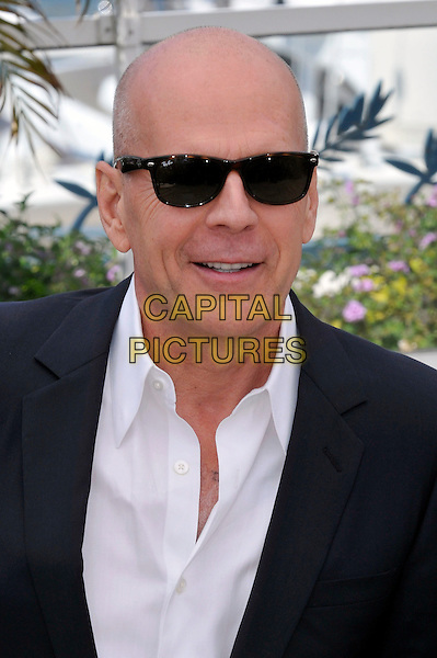 Bruce Willis.'Moonrise Kingdom' photocall at the 65th  Cannes Film Festival, France 16th May 2012.headshot portrait black white sunglasses shades shirt.CAP/PL.©Phil Loftus/Capital Pictures.