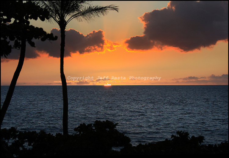 Hawaii, Nature, Sunsets, Beach, Ocean, Sky, Landscape, Kona, Stock Photography, Stock