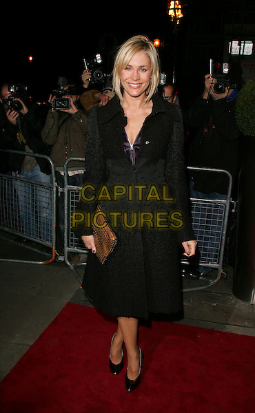JENNI FALCONER.A Celebration of Burns' Night Party at Harvey Nichols, Knightsbridge,London - London, England,.January 25th 2008..full length black coat bronze clutch bag.CAP/ROS.©Steve Ross/Capital Pictures