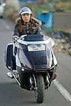 "Hiroe Kobayashi on Honda ""Fusion 3000"" ( Bike Shop Freedom )."
