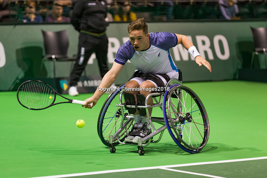 Rotterdam, The Netherlands, 17 Februari, 2018, ABNAMRO World Tennis Tournament, Ahoy, Tennis, Wheelchair Final, Gustavo Fernandez (ARG), Alfie Hewett (GBR)<br /> <br /> Photo: www.tennisimages.com