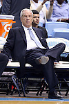 07 November 2014: UNC head coach Roy Williams. The University of North Carolina Tar Heels played the Belmont Abbey College Crusaders in an NCAA Division I Men's basketball exhibition game at the Dean E. Smith Center in Chapel Hill, North Carolina. UNC won the game 112-34.