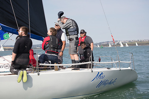 Hats off - Half Tonner Miss Whiplash was the Naval Race winner over a coastal course