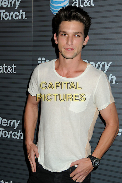 DAREN KAGASOFF.BlackBerry Torch Launch Party held at 5900 Wilshire, Los Angeles, California, USA..August 11th, 2010.half length white t-shirt pocket.CAP/ADM/BP.©Byron Purvis/AdMedia/Capital Pictures.