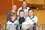 STARS: Kerry star, Tadhg Kennell put the kids through their paces at the VHI GAA Cu?l Camp at Listowel Emmets Club last Friday, including Jake Kelly, Wayne McGrath, Vincent McVeigh and Neilus Mackessy (back).