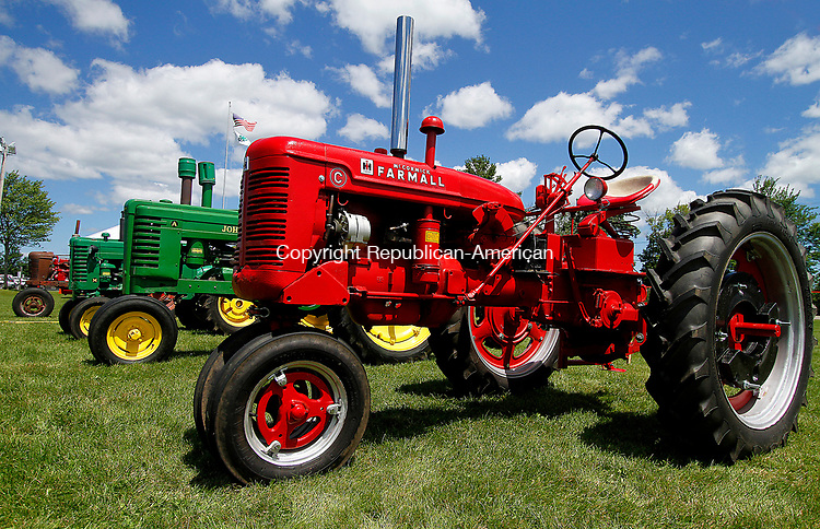 GOSHEN, CT - 30 JULY 2017 - 073017JW07.jpg -- Tractors on display Sunday afternoon during the Annual 4-H Fair.  Jonathan Wilcox Republican-American