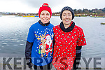 Cathy Jordan and Rose Brosnan at the Fiona Moore Memorial 5k Fun Run in the Tralee Bay Wetlands on Sunday morning.