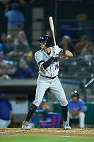Craig Dedelow (26) of the Winston-Salem Dash at bat against the Myrtle Beach Pelicans at TicketReturn.com Field on May 16, 2019 in Myrtle Beach, South Carolina. The Dash defeated the Pelicans 6-0. (Brian Westerholt/Four Seam Images)