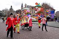 Nederland  Oss  -  2018. Halfvastenoptocht in Oss. Jaarlijkse afsluiting van het Carnaval seizoen.  De mooiste wagens en loopgroepen uit de regio presenteren zich voor de laatste keer aan het publiek.   Foto Berlinda van Dam / Hollandse Hoogte
