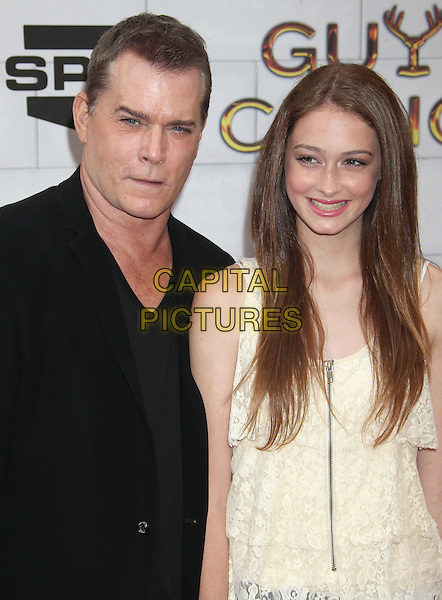 Ray Liotta, Karsen Liotta.Spike TV's 6th Annual 'Guys Choice' Awards held at Sony Pictures Studios, Culver City, California, USA..2nd June 2012 .half length black suit jacket white lace top dress father dad daughter family .CAP/ADM/RE.©Russ Elliot/AdMedia/Capital Pictures.