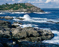 Surf at Schooner Head Overlook; Acadia National Park, ME