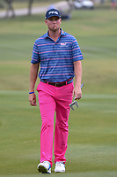 Trey Mullinax (USA) approaches the 18th green during Round 3 of the Valero Texas Open, AT&amp;T Oaks Course, TPC San Antonio, San Antonio, Texas, USA. 4/21/2018.<br /> Picture: Golffile | Ken Murray<br /> <br /> <br /> All photo usage must carry mandatory copyright credit (&copy; Golffile | Ken Murray)