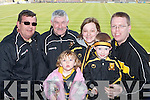 FINGERS CROSSED: Keeping their fingers crossed for a Crokes victory in Portlaoise on Sunday were Tony McMahon, Jeremiah Buckley and Sarah, Fiona, Aidan and Stefan OMahony. .