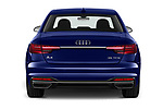 Straight rear view of a 2020 Audi A4 Advanced 4 Door Sedan stock images