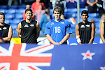 The Hague, Netherlands, June 01: Players of New Zealand line up prior to the match during the field hockey group match (Men - Group B) between the Black Sticks of New Zealand and Korea on June 1, 2014 during the World Cup 2014 at GreenFields Stadium in The Hague, Netherlands. Final score 2:1 (1:0) (Photo by Dirk Markgraf / www.265-images.com) *** Local caption ***