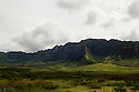 The Mountain surrounding Kanea Point in Makaha, Hawaii