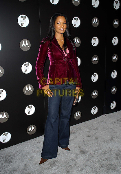 GARCELLE BEAUVAIS-NILON.Motorola's 7th Anniversary party benefitting Toy for Tots held at The American Legion in Hollywood, California  .November 3rd, 2005.Ref: DVS.full length purple jacket black trousers.www.capitalpictures.com.sales@capitalpictures.com.Supplied By Capital PIctures