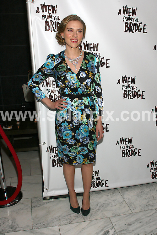 "**ALL ROUND PICTURES FROM SOLARPIX.COM**.**SYNDICATION RIGHTS FOR UK, AUSTRALIA, DENMARK, PORTUGAL, S. AFRICA, SPAIN & DUBAI (U.A.E) ONLY**.Scarlett Johansson at the A View From the Bridge"" Broadway Show Opening Night After Party held at  Espace, New York City, NY, USA. 24 January 2010..This pic: Scarlett Johansson..JOB REF: 10546 PHZ Gaboury   DATE: 24_01_2010.**MUST CREDIT SOLARPIX.COM OR DOUBLE FEE WILL BE CHARGED**.**MUST NOTIFY SOLARPIX OF ONLINE USAGE**.**CALL US ON: +34 952 811 768 or LOW RATE FROM UK 0844 617 7637**"