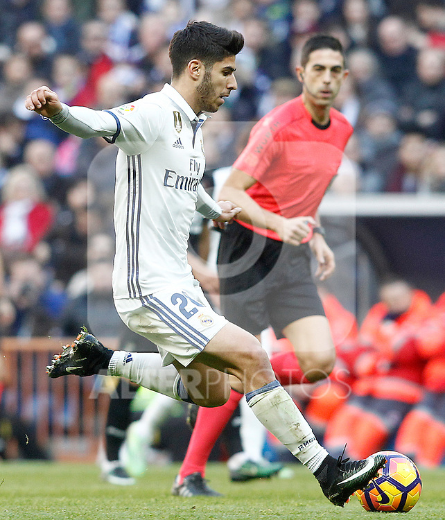 Real Madrid's Marco Asensio during La Liga match. January 7,2016. (ALTERPHOTOS/Acero)