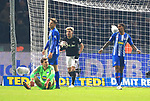 03.11.2018, OLympiastadion, Berlin, GER, DFL, 1.FBL, Hertha BSC VS. RB Leipzig, <br /> DFL  regulations prohibit any use of photographs as image sequences and/or quasi-video<br /> <br /> im Bild 0: 2 durch Timo Werner (RB Leipzig #11), Kevin Kampl (RB Leipzig #44)<br /> Rune Jarstein (Hertha BSC Berlin #22),Niklas Stark (Hertha BSC Berlin #5), Valentino Lazaro (Hertha BSC Berlin #20)<br /> <br />       <br /> Foto © nordphoto / Engler