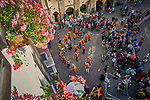 The Dutch fans in party mode as always during the Women Elite Road Race of the 2018 UCI Road World Championships running 156.2km from Kufstein to Innsbruck, Innsbruck-Tirol, Austria 2018. 29th September 2018.<br /> Picture: Innsbruck-Tirol 2018/Jonathan Reid | Cyclefile<br /> <br /> <br /> All photos usage must carry mandatory copyright credit (&copy; Cyclefile | Innsbruck-Tirol 2018/Jonathan Reid)