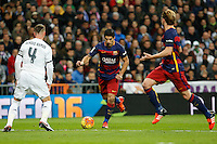 Barcelona´s Luis Suarez during 2015-16 La Liga match between Real Madrid and Barcelona at Santiago Bernabeu stadium in Madrid, Spain. November 21, 2015. (ALTERPHOTOS/Victor Blanco) /NortePhoto