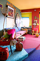 colorful funky living room