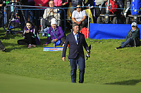 Kevin Feeney (referee) on the 18th green during Day 3 Singles at the Solheim Cup 2019, Gleneagles Golf CLub, Auchterarder, Perthshire, Scotland. 15/09/2019.<br /> Picture Thos Caffrey / Golffile.ie<br /> <br /> All photo usage must carry mandatory copyright credit (© Golffile | Thos Caffrey)