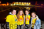 Siobhan Brosnan (Currow) with Aisling and Gemma Kearney (Castleisland) and Abbie Blennerhassett (Ballymac), taking part in the Darkness into Light walk in Tralee on Saturday morning last.